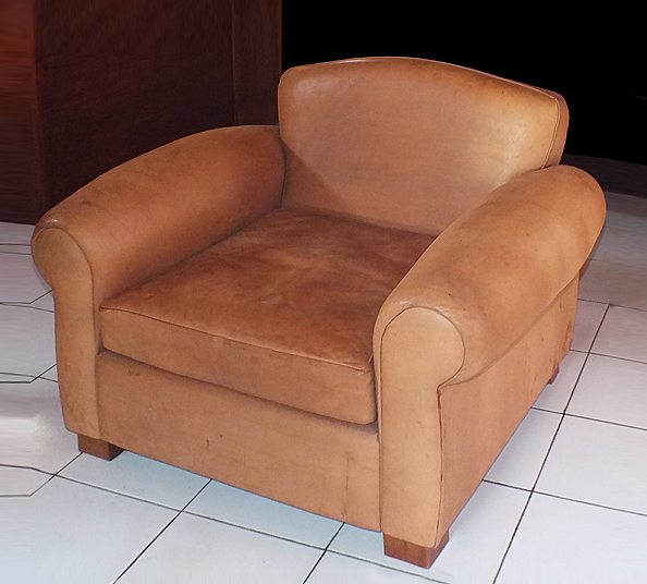luxury leather club armchair