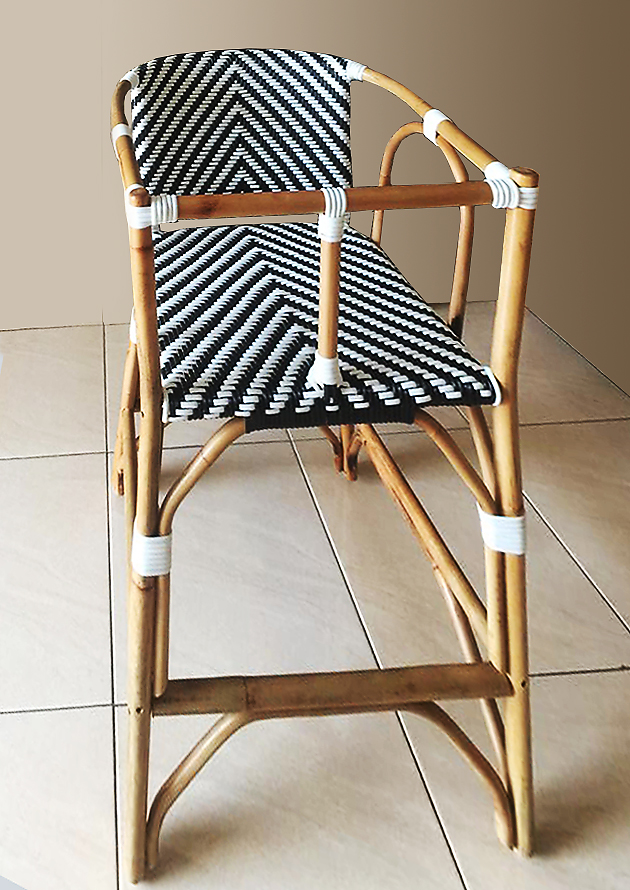 rattan natural frame and weaving plastic fiber children chair