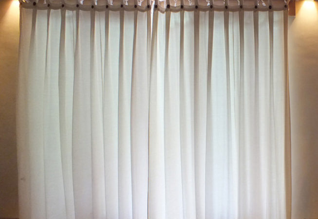 curtain made from cotton with buttons