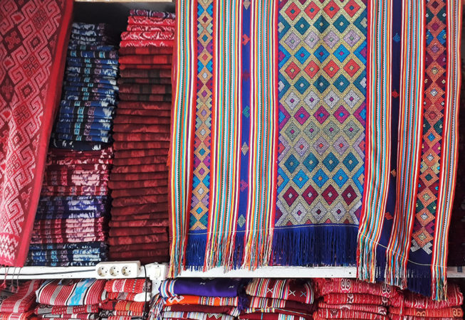 weaving rug made in timor