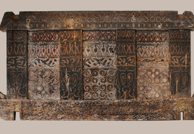 Original Carved Wood Panel from House Toraja Sulawesi Indonesia