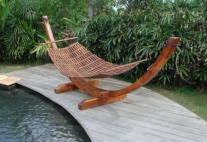standing Hammock made from teak wood from Bali