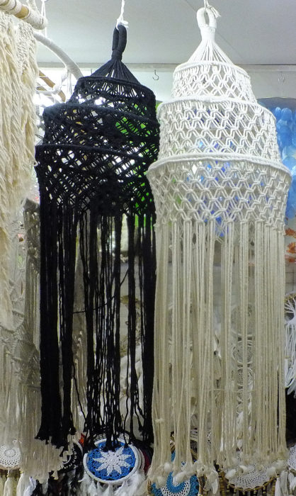 crochet weave cotton suspension decoration for lamp and lighting hood