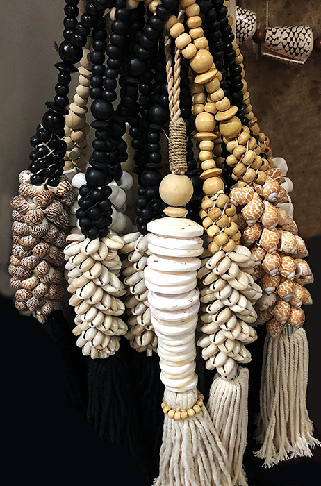 Tassels made from shell