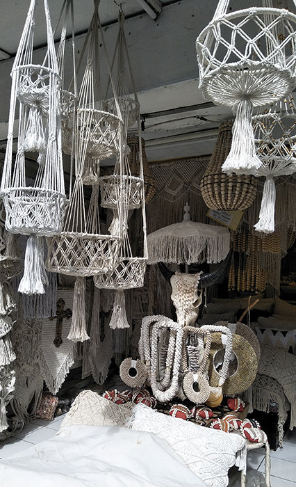 macrame ceiling decoration