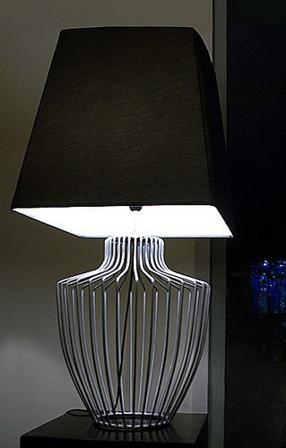 stainless lamp with cotton lampshade