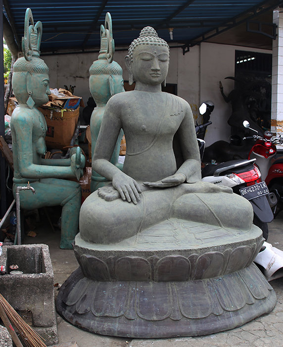 Big Antic Brass sitting Buddha