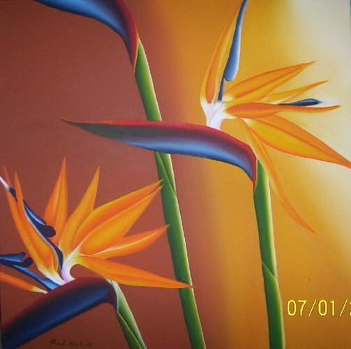 Bird of Paradise Painting Bayutrading