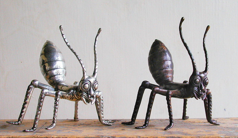 Brass Antique or silver ants