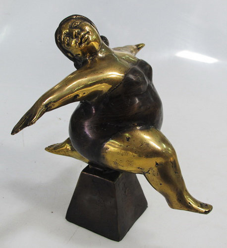 Brass Far Woman figure decor
