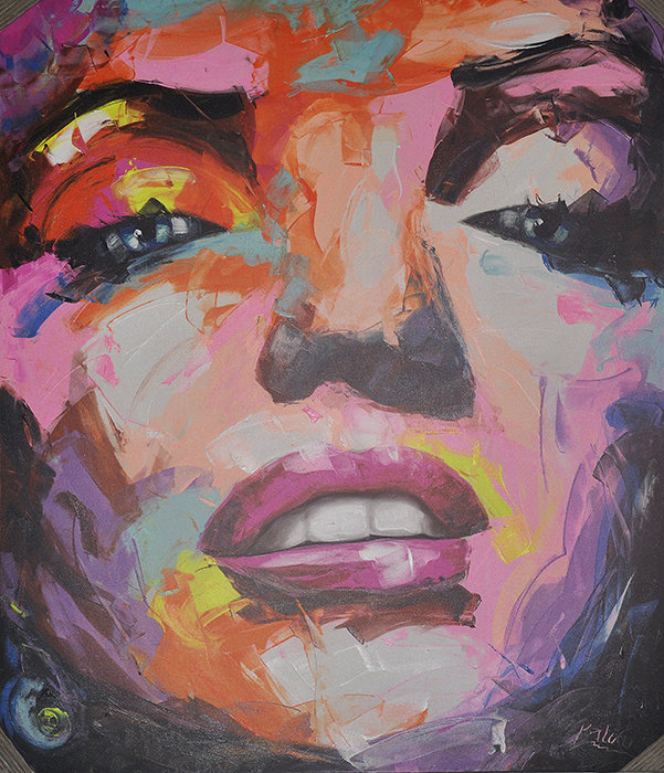 painting of Pop art woman face