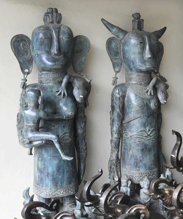 Brass Primitive decorative figures
