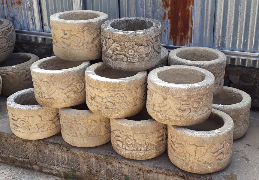 cylinder carved stone pots bayutrading