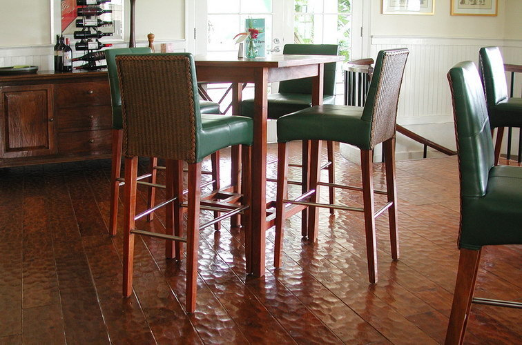Antique design teak indoor flooring from Bayu International Trading Bali