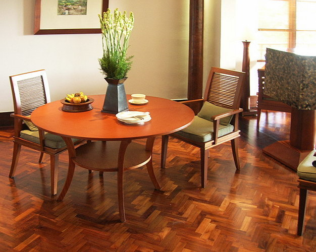 Classic design teak indoor flooring for hotel room