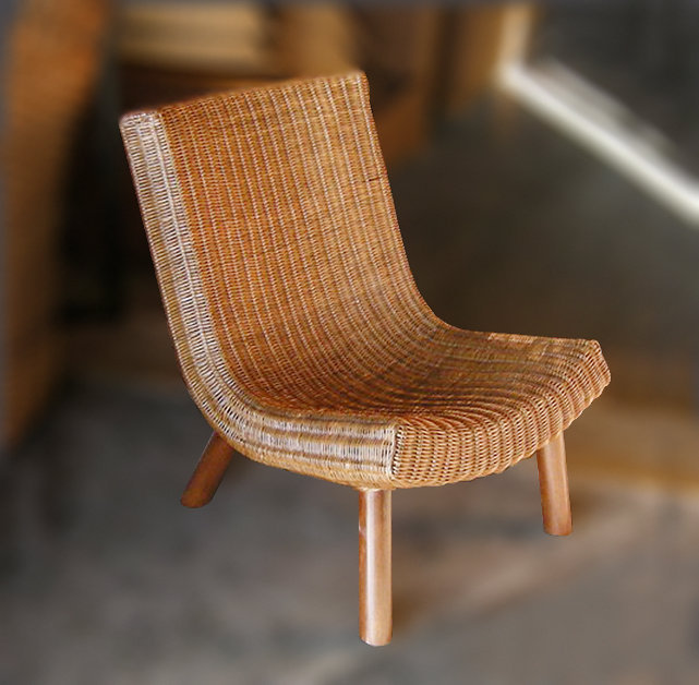 Woven rattan loung chair handmade from Bali Bayutrading