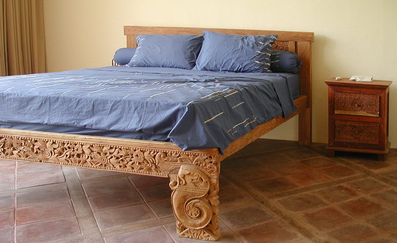 old teak carved antique bed decor traditional from bali bayu trading international