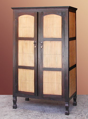 teak and bamboo closet wardrobe exotic style