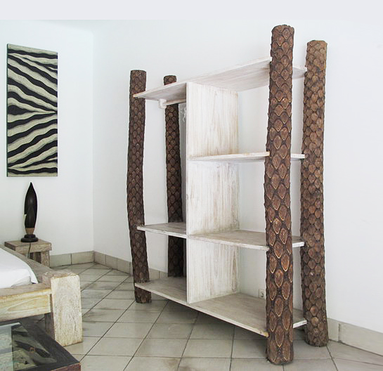 Teak and fern trunk shelf modern and primitive furniture style bayu international trading