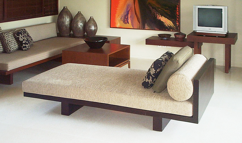 teak day bed with mattress and pillows modern decoration furniture