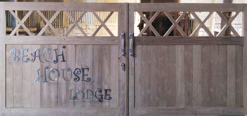 Beach House Lodge entry door at New Caledonia