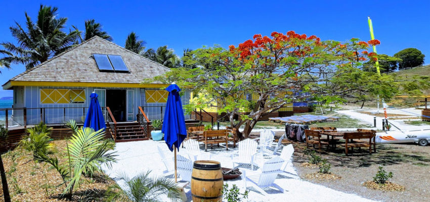 Outdoor decoration at Beach House Lodge New Caledonia