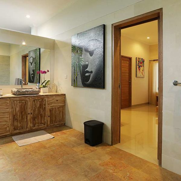 Bathroom Mirror and furniture made from teak wood and painting