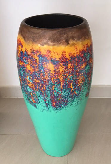 decorative painted big vase