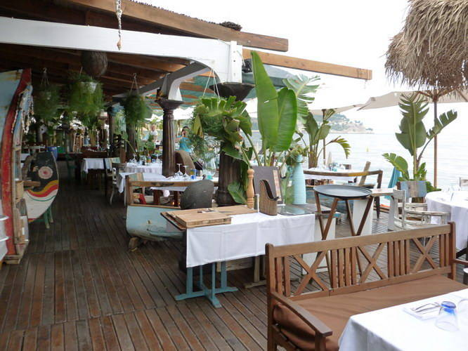 Restaurant furniture and plant hangers