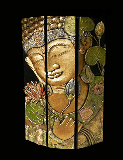 Wooden divider carved and painting wood