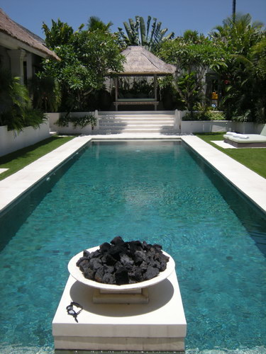 villa furniture and materials for deco indoor and outdoor