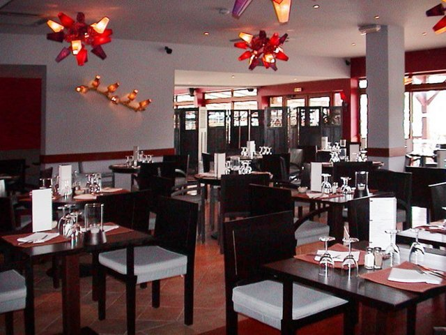Interior design with high quality furniture of restaurant