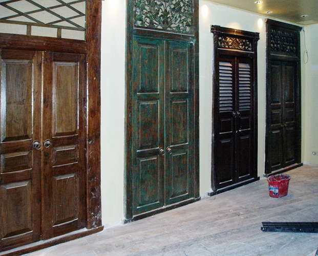 doors on the wall decoration