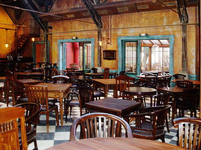 restaurant furniture round and square tables and chairs made out of wood