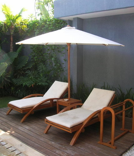 sunbeds with a parasol
