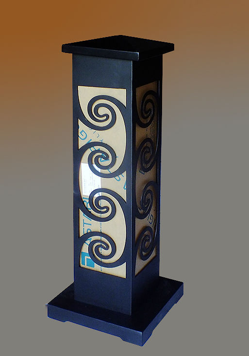 decorated column lighting for the garden