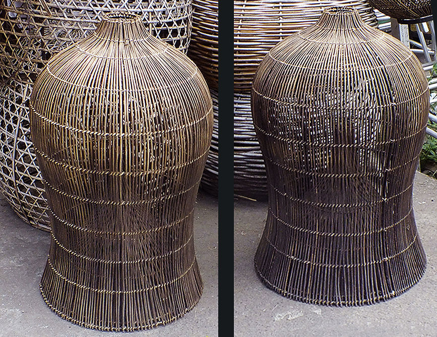 rattan fish net used as lampshade