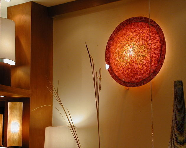 resine wall lamp