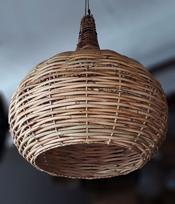 rattan ball lampshade