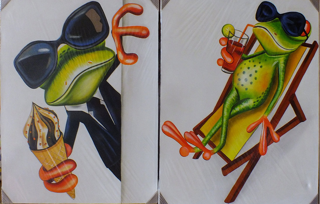 Funny Frog Painting