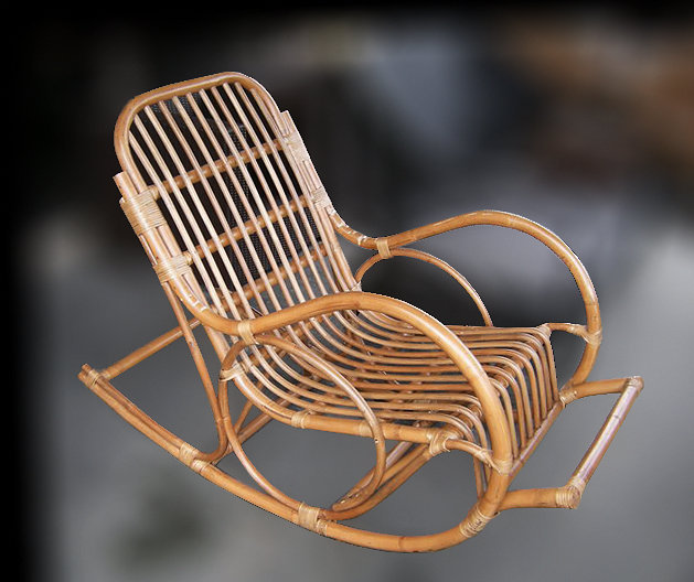 Rattan Rocking Chair handmade furniture from Bali