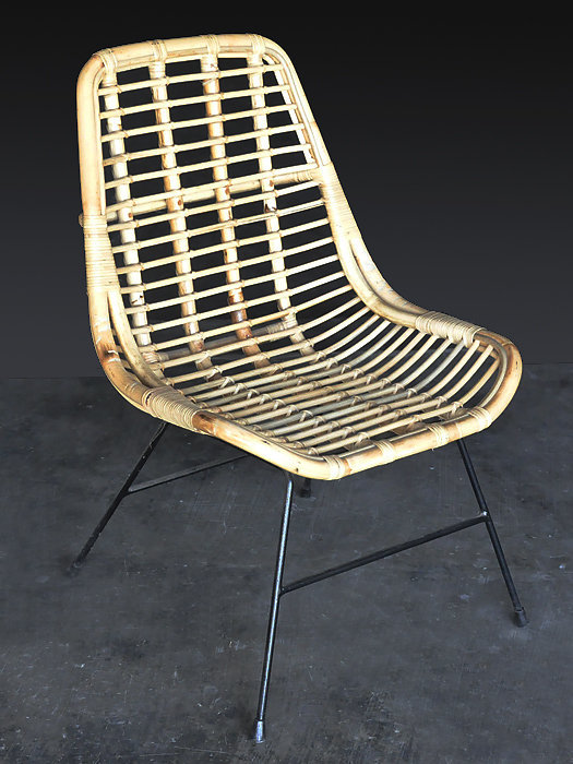 Rattan with iron frame dining chair hand made furniture