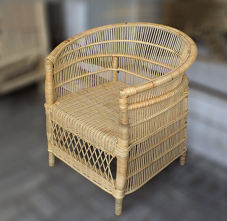 Rattan Woven dining armchair handmade furniture from Bali