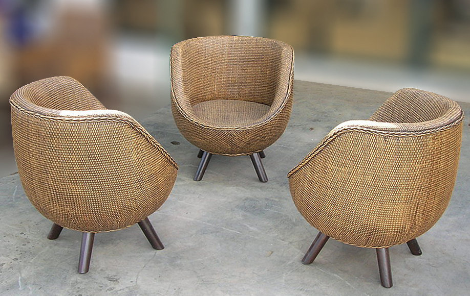 Handmade rattan woven set armchair from Balii Bayutrading