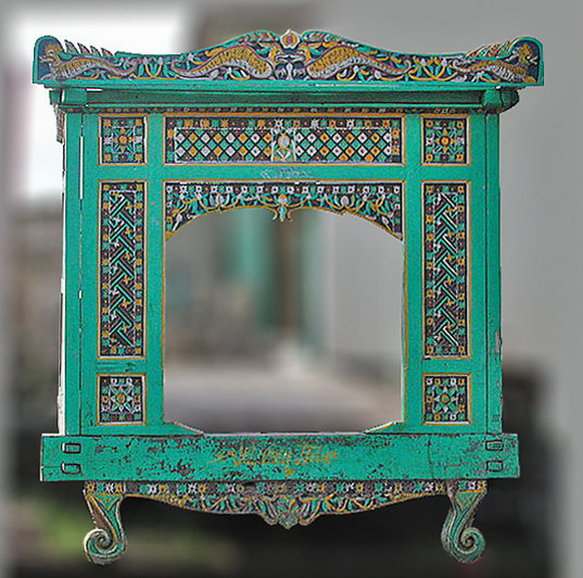 old carved teak javanese canopy bed antique style decoration bayu trading international