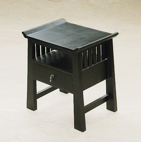 black bedside table with drawer chinese style furniture