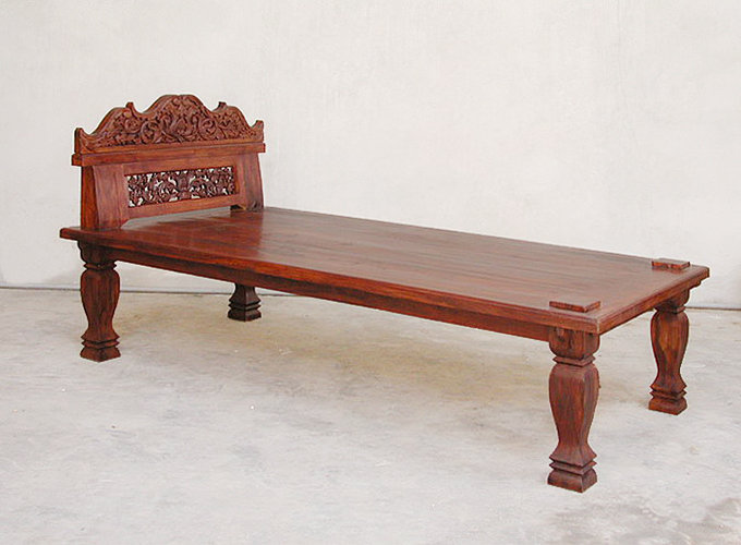 old carved antique single bed bayu trading international