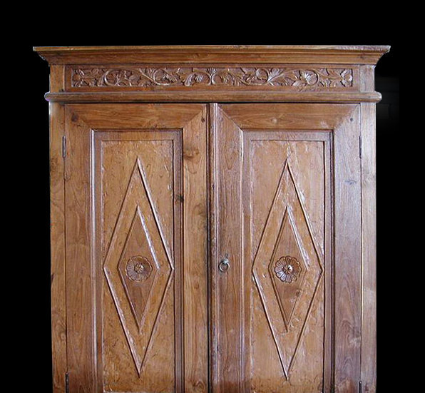 old teak carved warbribe closet 2 doors antique furniture