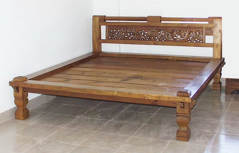old teak carved antique bed bayu trading international