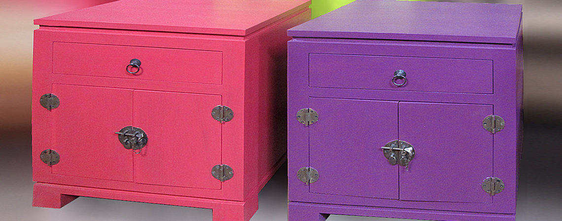 painted bedside table with drawer and doors chinese style bayu trading international